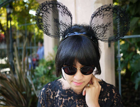 Chic Mouse Ear Headbands - Add Lace to a Mickey Mouse Ear Design to Create a Stylish Hair Accessory