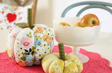 Retro Fabric Pumpkins - Turn Vintage Fabric Designs into Plump Pumpkins with This Fun DIY Guide