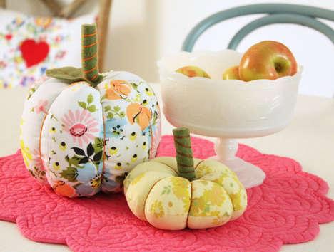 Retro Fabric Pumpkins