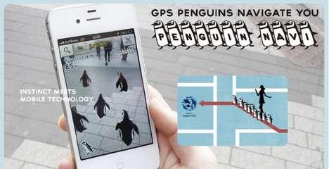 Penguin-Guided Navigation Apps