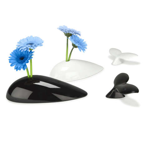 Submerged Whale Planters - The Mobi Whale Vase Offers a Whimsical Oceanside Feeling to Your Table