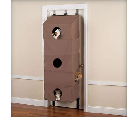 Door-Hanging Feline Abodes - This Cat Condo Accommodates Five Critters at Once While Saving Space