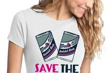 Cancer Awareness Apparel - This Breast Cancer Tee Urges People to Save the Cans