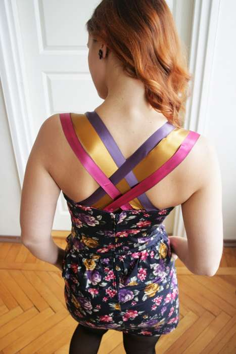 DIY Ribbon Strapped Dresses - Add Colorful Ribbons to a Strapless Gown with This Simple DIY Activity