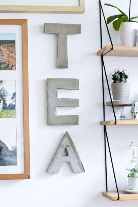 DIY Typographic Wall Decals