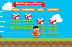 Gamer-Inspired Resumes - The Robby Leonardi Interactive Resume Pays Tribute to 'Super Mario Bros.'