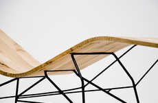 Undulating Lumber Loungers - The Bois Mou Chairs Have Been Manipulated for an Organic Appearance