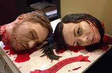 Gruesomely Beheaded Wedding Cakes - This Blood-Splattered Cake May Be Weirdest Wedding Cake Ever