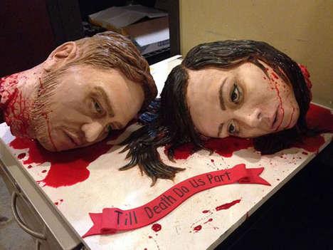 Gruesomely Beheaded Wedding Cakes
