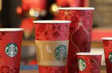 Iconic Coffee Cup Makeovers - Starbucks Unveils Its Sophisticated New 2013 Starbucks Holiday Cups