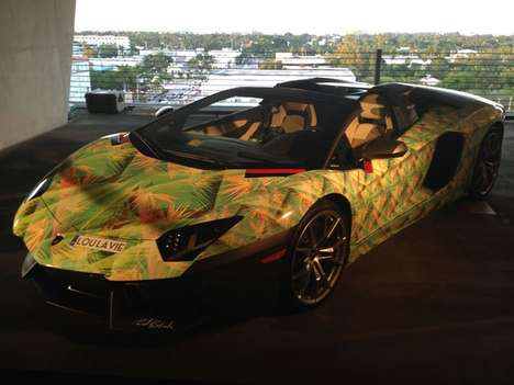 Shoe-Inspired Supercar Wraps