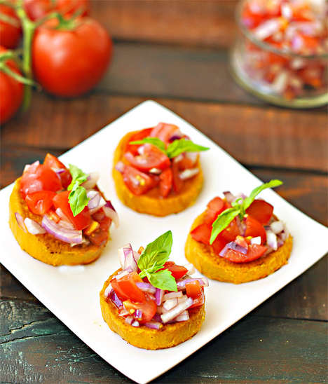 Healthy No-Bread Bruschetta - Sweet Potato Bruschetta is a Yummy Snack to Calm Your Cravings
