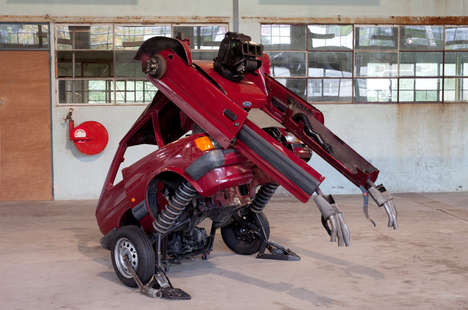 Personified Car Sculptures