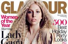 Idiosyncratic Pop Star Editorials - Lady Gaga is Pretty and Wacky for Glamour