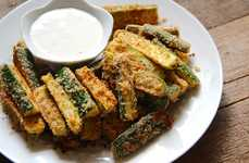 Deliciously Deceptive Fries - Baked Zucchini Fries are a Delicious Alternative to the Salty Snack