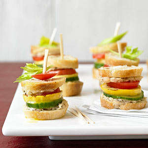 Flavorful Veggie Sliders - Garden Sliders are a Refreshing Party Snack