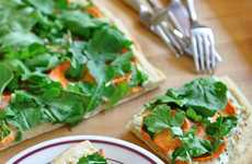 Meatless Pizza Appetizers - This Vegetarian Flatbread is the Perfect Size to Share with Friends