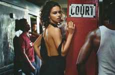 Steamy Subway Editorials - Adriana Lima Spices Up Transportation in Numero Tokyo