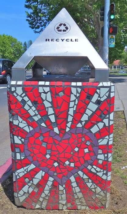 Trash Bin Mosaics