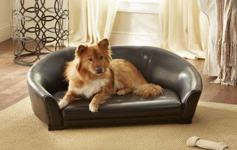 Luxury Pet Loungers - This Sleek Couch Pet Bed Will Make Them Feel Like Royalty