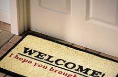 Cheeky Booze-Demanding Doormats - The I Hope You Brought Beer Doormat Requires Booze for Entry