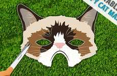 Moody Feline Disguises - This Grumpy Cat Mask is Perfect for Costume Parties or Off Days