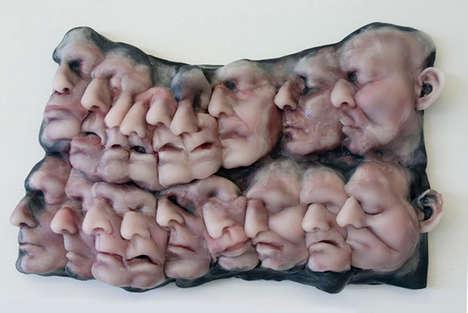 Grotesque Self Portrait Sculptures