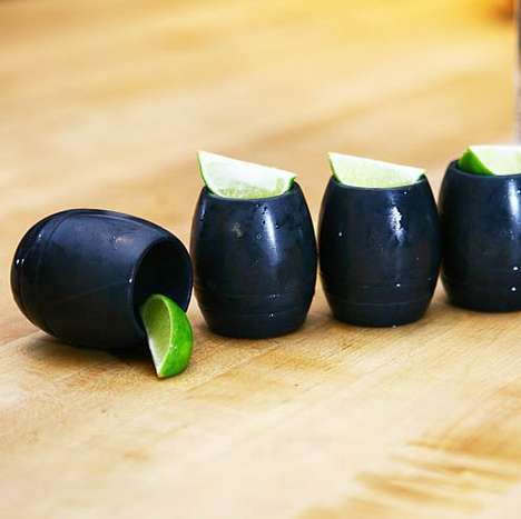Stone-Made Cocktail Accessories - These Soapstone Shot Glasses are Freezable and Microwave Safe