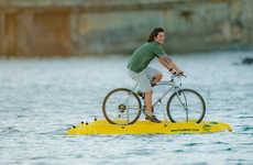 Water-Treading Bicycles - The 'Baycycle' Water Bicycle Makes Cycling on Water an Option