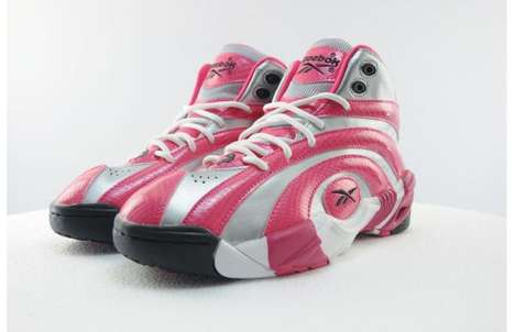 Spiral Snakeskin Pink Sneakers - The Pink GS Reebok Shaqnosis are Exclusively for the Ladies