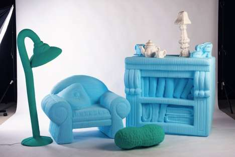 Blown-Up Doll House Furniture - The 1:1 Project by Silva Lovasova is Understandably Toy-Like