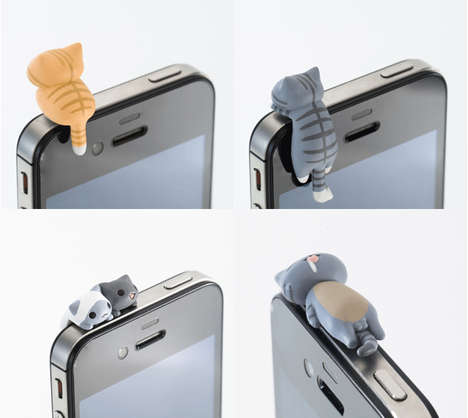 Tiny Feline Phone Plugs - These Cat Phone Plug Accessories Add Instant Charm to Phones