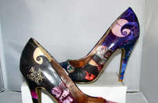 Spooky Christmas Movie Pumps - Get Ready for the Holidays with the Nightmare Before Christmas Heels