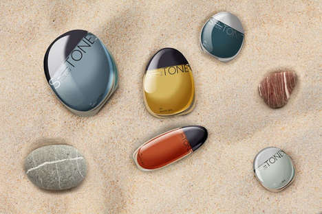 Pebbly Polish Branding - S-Tone Nail Polish Packaging Embodies the Organic Beauty of River Rocks