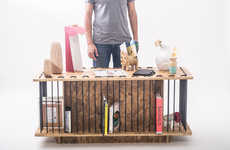 Factory Scrap Furniture - The NOTWASTEMX Collection Combines Discarded Manufacturing Materials