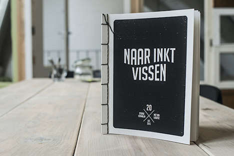 Squid Ink-Printed Books