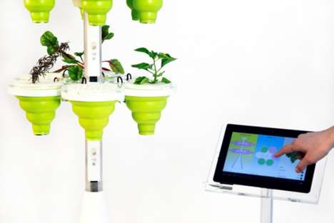 Futuristic In-Home Garden Systems - SproutsIO by Jennifer Broutin Farah is Easy and Eco-Friendly