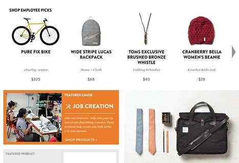 Charitable Online Marketplaces