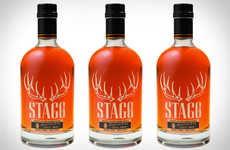 Assertive Antler Branding - Stagg Jr. Bourbon Packaging Bears its Horns to Warn of Great Strength