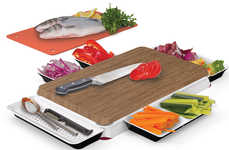 Multi-Surface Cutting Boards - The 'Chop N Serve' by Unikia Makes Meal Prep Efficient and Organized