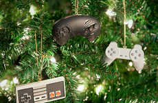 Geeky Game Tree Decorations - These Nerdy Christmas Ornaments Add Nerdy Flair to Holiday Festivities