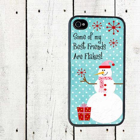 Funnily Festive Smartphone Cases