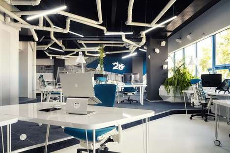 Nerdy Spaceship-Themed Workspaces
