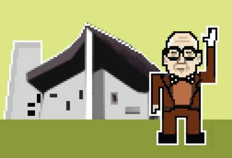 Pixelated Architect Portraits