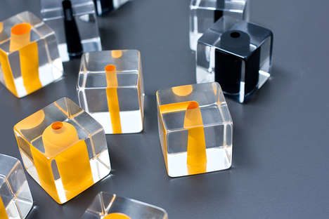 Clear Cube Game Pieces