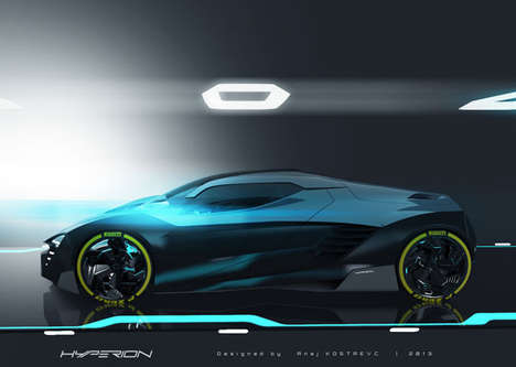 Faceted Hybrid Concept Cars