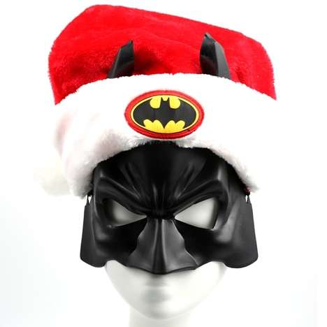 Heroic Holiday Headwear - The Batman Santa Hat is Ideal for Fans of the Caped Crusader