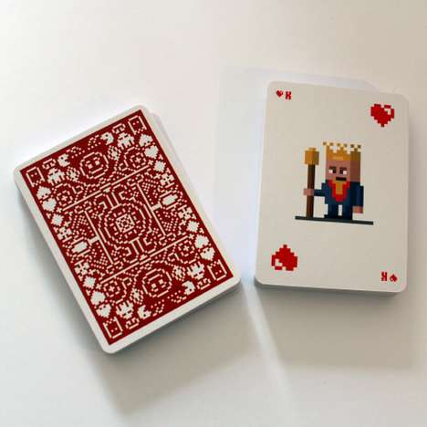 Pixelated Poker Cards