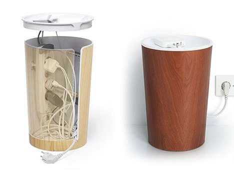 Wire-Concealing Receptacles