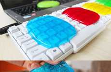 Colorful Glutinous Cleaning Supplies - Get Rid of Bacteria on Your Gadgets with Cleaning Slime
